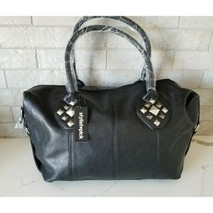 Handbags - NWT very Large black faux leather satchel
